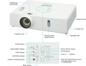 Panasonic PT-VW355N (4000 Lumens) WideScreen Projector